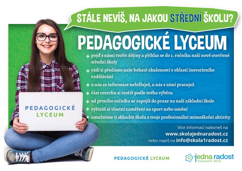 Propagační leták Pedagogického lycea